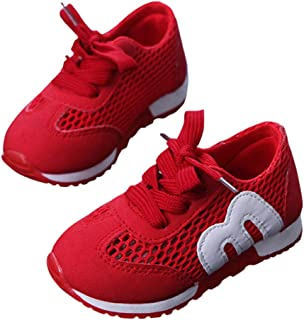 Yangguang Boys Lace Up Athletic in Red Colour