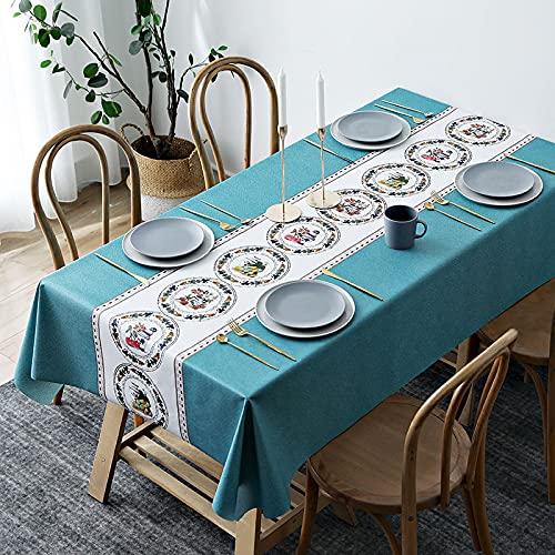 sans_marque Tovaglie, utilizzate per tavoli interni ed esterni, tovaglie – Solide tovaglie da cena per matrimoni, ristoranti e caffetterie120 x 160 cm