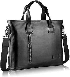 "Men's Accessories Men's Portable Business Briefcase 14"" Laptop Handbag Shoulder Messenger Satchel Casual Bag Organizer Black Outdoor Recreation"