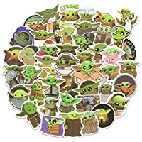 🚀【Cutest Stickers for Yoda Fans】Specially selected 50pcs trendy yoda stickers bomb for all fans of STAR WARS and The Mandalorian TV Series. Non-Duplicated vinyl stickers, variety of most fashional baby yoda stickers for teens and adults. 🚀【High Quali...