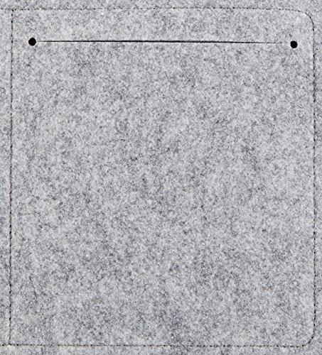 Amazon Basics - Funda de fieltro para portátil de 13 pulgadas, color gris claro
