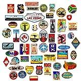 54x Pegatinas de Equipaje Parches de Maleta Etiquetas de Viaje Vintage vinilos de Estilo Vintage Retro