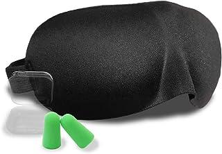 L-park アイマスク 立体型 安眠 遮光 圧迫感が無く化粧崩れしない【天使のアイマスク】耳栓 付き