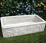 lavello lavabo in cemento da giardino lavello rustico - misura 80 x 40 x 20 cm per esterno arredo giardino