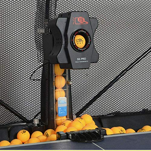 DONSU Table Tennis Robot,Multi-rotat Ping Pong Ball Machine,S6-PRO Table Tennis Robot Automatic Ping-Pong Ball Practice Machine Automatic Ball Machine for Training