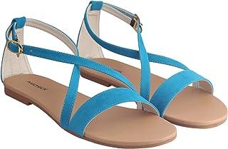 MICHICK Woman Trending Stylish Fancy and Comfort Flat Fashion Sandal
