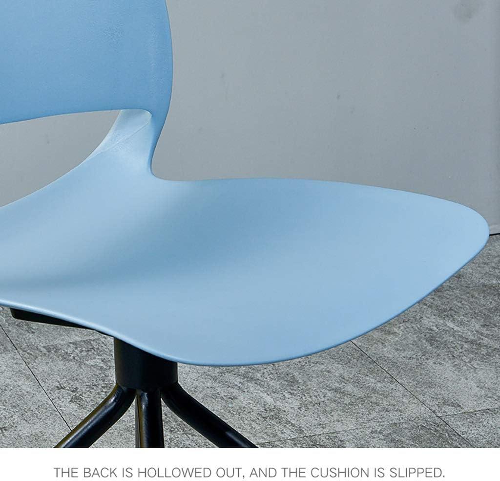 HSF Chaise en Plastique Tabouret Maison Dossier Restaurant Loisirs créatif dinant la personnalité de la Chaise Chaises (Color : Gray) White
