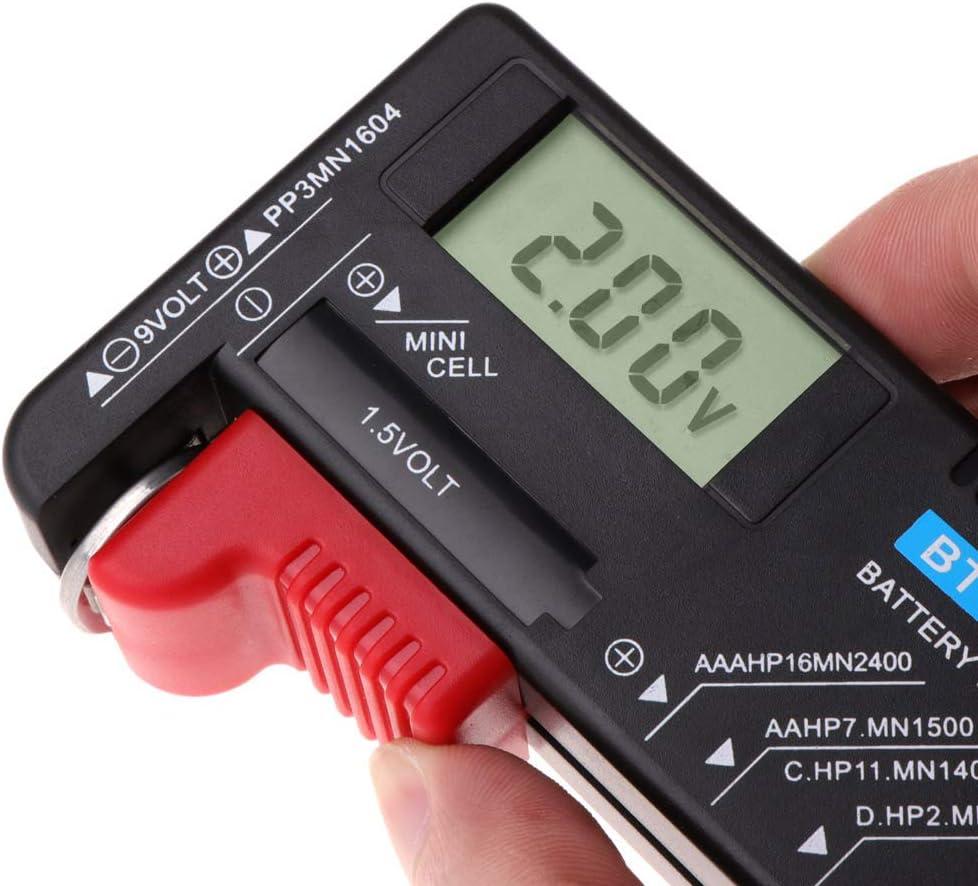 XIANSHI LCD for 9V 1.5V AA AAA Cell C D Batteries BT168D Digital Battery Tester Capacity Meter