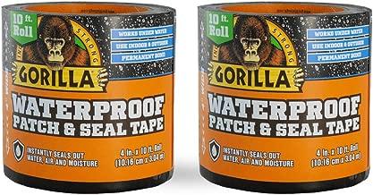 Gorilla 4612503DF Waterproof Patch & Seal Tape, 2-Pack, Black