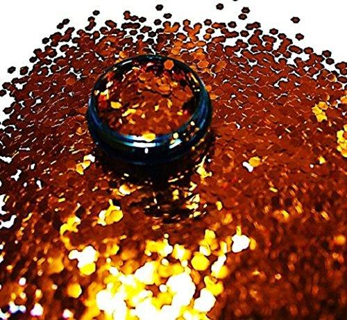 3 ml Glitterpailetten (2,3mm) Orange in Acryl Tiegel