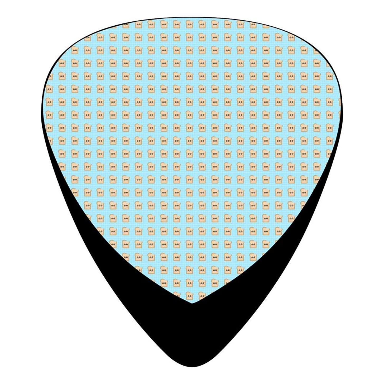 Cute Toast Guitar Picks Celluloid 12 Pack Shape For Acoustic Guitar Mandolin Electric Guitar And Bass