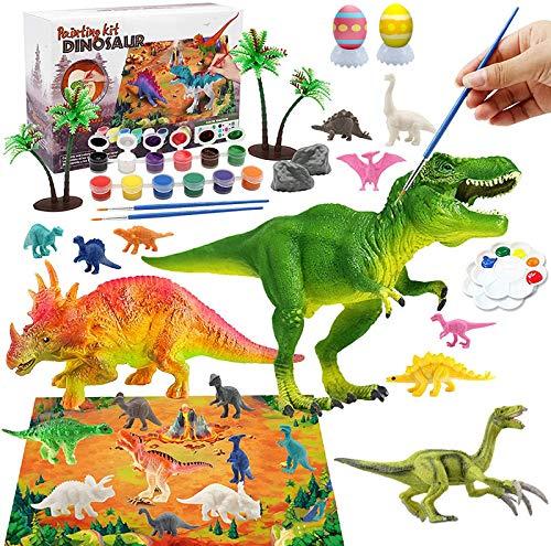 Morkka Creativi Gioco Dinosauri per Bambini 40 Pezzi,Giochi Pittura Dinosauri,Dinosauro Figurina per SES Creative,Giochi Creativi DIY per Ragazzo Ragazza,Regali di Dinosauro per Bambini