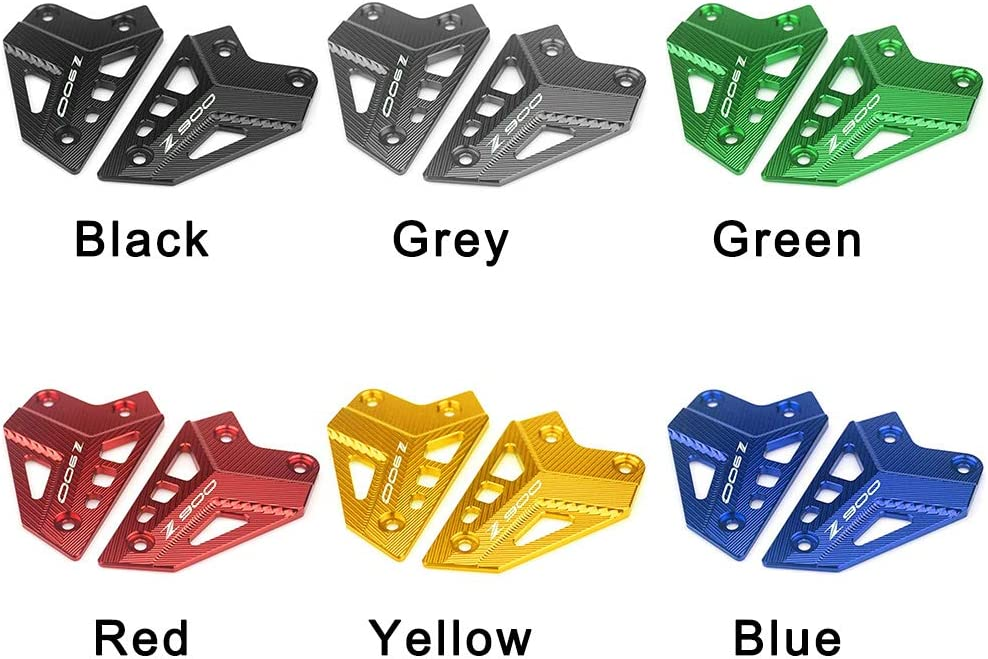Bleu Yiran Repose-Pied 1 Paire Durable Installation Facile Accessoires Moto Repose-Pieds en Alliage daluminium Solide Modification Garde Protection du Talon d/écoratif Antichute pour Kawasaki Z900