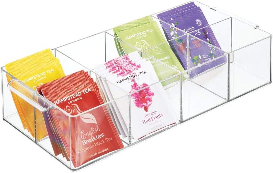 Trust mDesign Compact Plastic Tea Storage Organizer 8 Tote Bin Caddy Max 88% OFF -