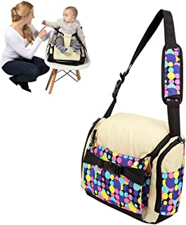 Travel Booster Seat,Feeding Booster Mommy Bag Foldable Large Capacity As High Chair for Babies Toddlers for Journeys