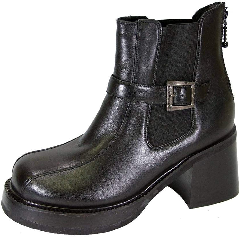 Peerage Paula Women Wide Width Elegant 7 Inch Comfort Leather Dress Bootie for Fall or Winter