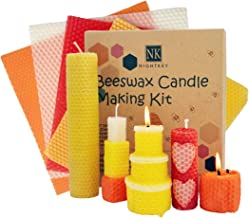 NIGHTKEY Beeswax Candle Making Kit-Include 5 Various Colors 10 Beeswax Sheets- Candle Making Supplies for Adults and Kids