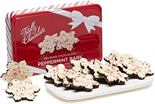 Peppermint Bark Snowflakes 12-Piece Set Holiday Gift Tin
