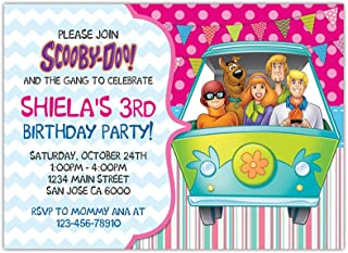 scooby doo personalized birthday invitations