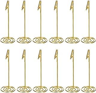 Artliving 12pcs Place Card Holder Memo Holder Clip Photo Holder Table Number Holder