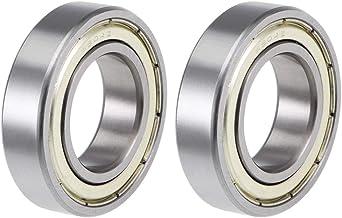 uxcell 6904ZZ Deep Groove Ball Bearings Z2 20mm X 37mm X 9mm Double Shielded Carbon Steel 2pcs