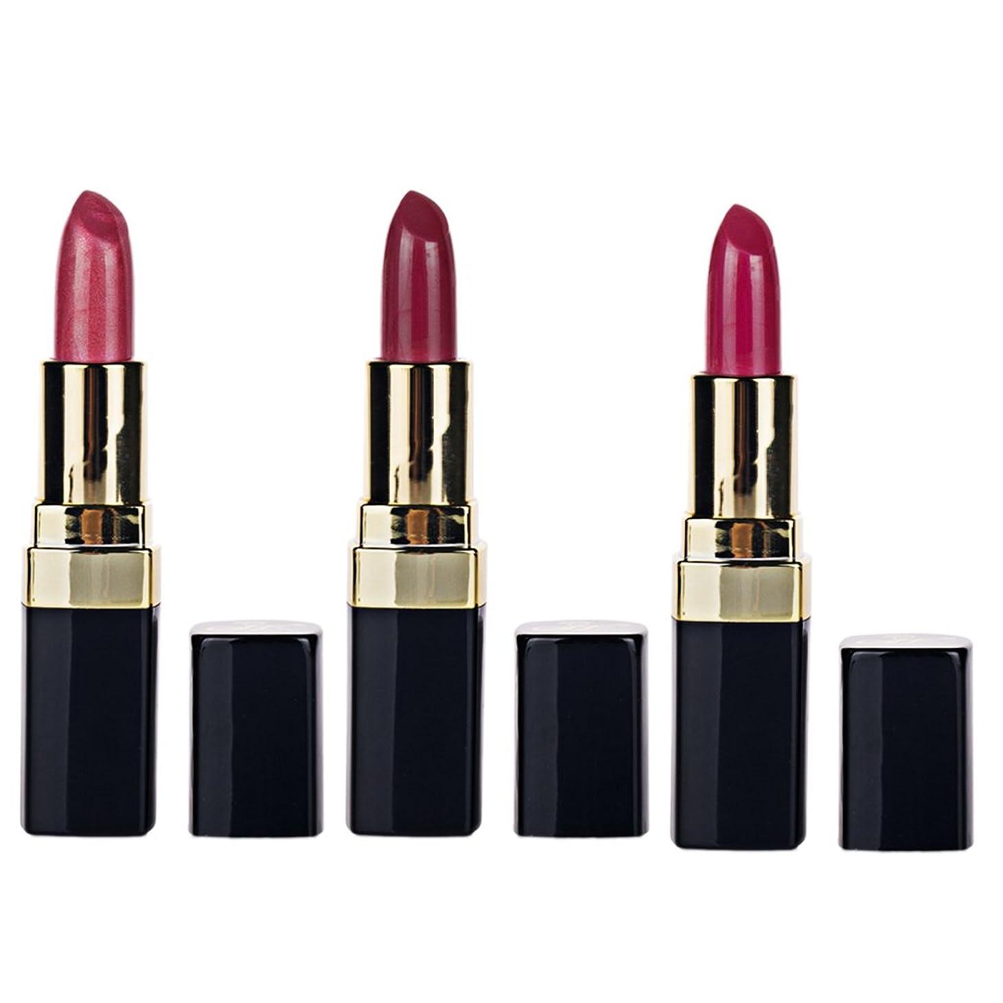 認可変える東Kesoto 高純度 顔料 ソフト 口紅 保湿 長持ち 素晴らしい 女性 ギフト 3個/セット 全4セット  - #7#8#9