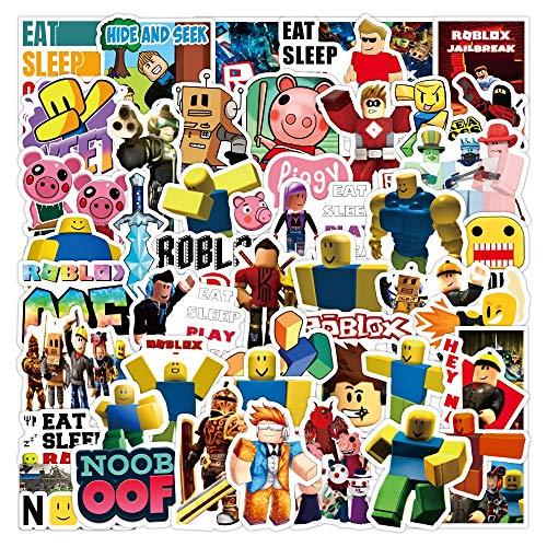 WWJIE Etiqueta engomada de la Pintada DIY Equipaje portátil Scooter refrigerador Taza Dibujos Animados papelería Pegatina Juguetes