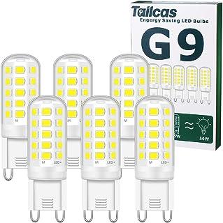 G9 LED Lampen Kaltweiss 6000K, 5W LED Lampe Ersatz für 30W 40W 50W Halogenlampen, 500 Lumen Leuchtmittel Nicht Dimmbar Kei...