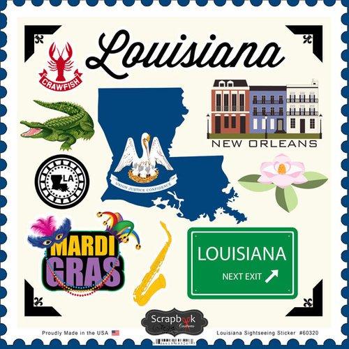 Louisiana Sightseeing Scrapbook Stickers (60320)