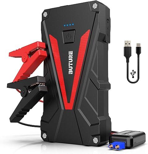BuTure Booster Batterie - 800A 12800mAh Portable Jump Starter (Jusqu'à 6.0L Essence/5.0L Gazole) Démarrage de Voiture...