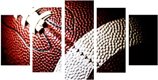 FONWAPAI Canvas Painting Printed 5 Pieces American Football Wall Art Canvas Pictures for Living Room Bedroom Modular Home Decor No Framed … …