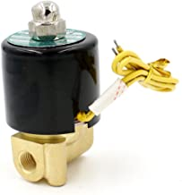 Baomain 1/8 Inch Brass Electric Solenoid Valve for Air Water Valve N/C ( Normally Closed ) AC 110V