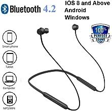 Waterproof Bluetooth Headphones, Sport Earphones, HiFi Bass Stereo Sweatproof Earbuds, Noise Cancelling Headset