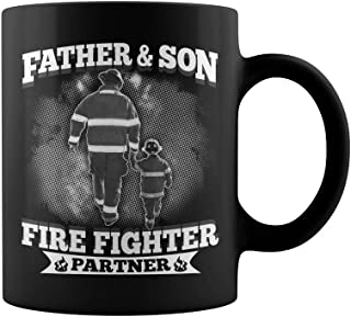 Father Son fire fighter partner