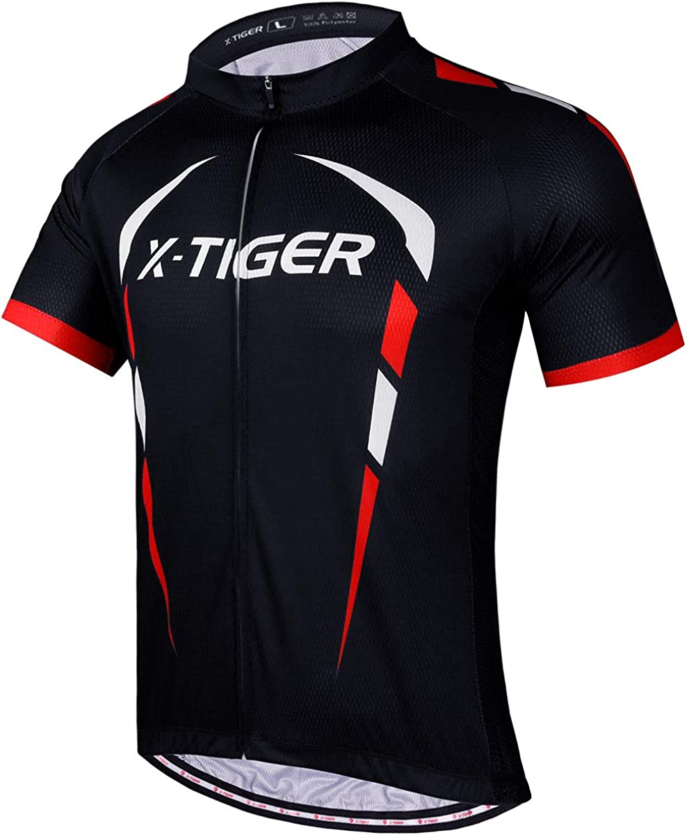 X-TIGER Cycling Bike Jersey Short Sleeve Fort Worth Mall Bicycle for Top MTB Rapid rise Men
