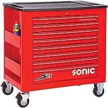Sonic Equipment S11 - Carro de taller (644 piezas), color rojo