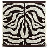 林 アニマルウェーブ タイガー ウォッシュタオル ホワイト PE700510(1枚入)