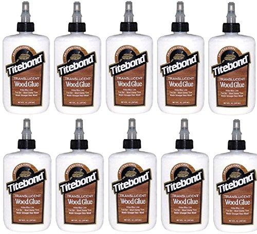 (10) bottles Franklin Titebond 6123 8 oz Translucent Wood Glue