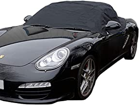 Custom-fit Soft Top Roof Protector Half Cover for Porsche Boxster 987 (Black)