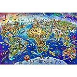 Puzzles Señales del Mundo Mapa Rompecabezas, Descompresión Educación Intelectual For Padres con Niños Juego, 500/1000/1500/2000/3000/4000/5000/6000 Piezas 0718 (Size : 500 Pieces)