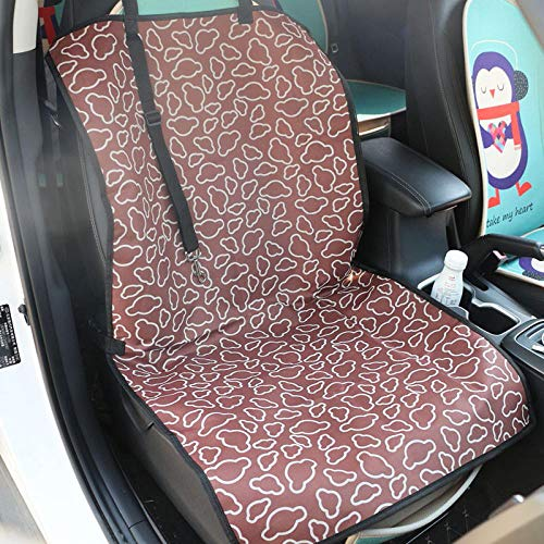 TTXP Pet Car Seat Cover for Dog Brown Cloud Pattern Dog Car Boot Covers for Cars for Pets, Pet Seat Cover, Dog Car Hammock, Water-Resistant, Wander Style