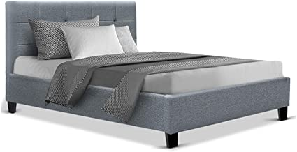 King Single Bed Frame Fabric - Grey