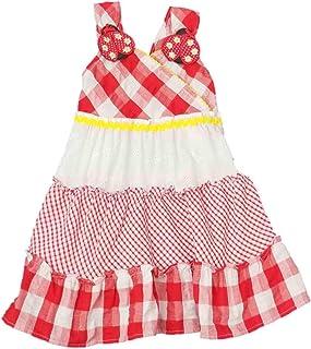 d2c3fe29b Youngland Infant Toddler Girls Red White Checkered Gingham Ladybug Summer  Sun Dress