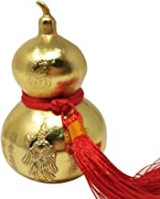 Feng Shui Brass Wu Lou/Hu Lu Gourd W Red String Bracelet (Gold)