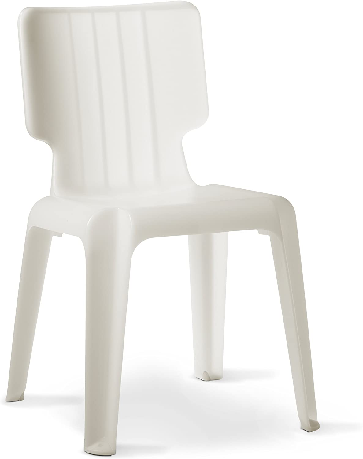 Authentics Wait Plastic Chair, Stackable Chair, White, Plastic, 1085028