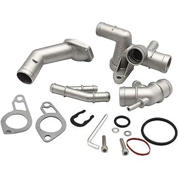 Cast Aluminum Cylinder Head Coolant Flange For 2000-2005 VW Passat B5 GLS 2001 A4 1.8T