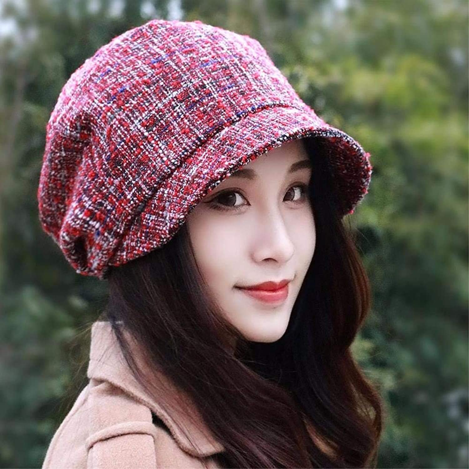 Chuiqingnet Girls fall WINTER HAT beret fashion girl hat octagonal cap English painter cap basin hat painter cap new