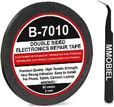 MMOBIEL 2 mm Ruban adhésif Double face puissant Longueur 50m (Noir) pour toutes réparations Smartphones et Tablettes