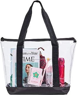 کیف متحرک بزرگ شفاف ، کیف دستی شانه پی وی سی زنانه ، کیف تمیز استادیوم برای سفرهای امنیتی ، خرید ، ورزش و کار