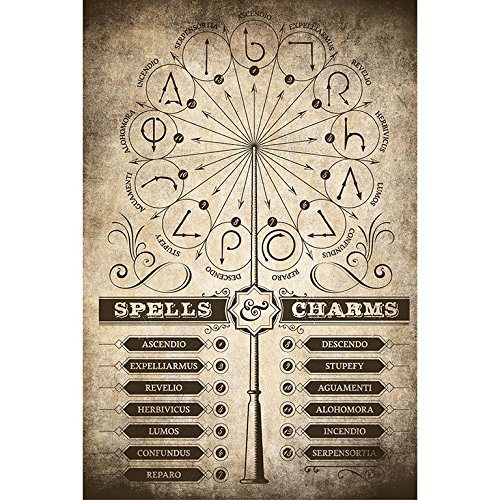 Grupo Erik Editores Poster Harry Potter Spells & Charms
